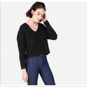 Everlane Cashmere Crop Sweater V Neck